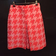 J. Crew Houndstooth Skirt Worn once, excellent condition. J. Crew Skirts
