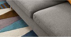Vento Ecksofa (Récamiere links), Manhattangrau | MADE.COM Angles, Manhattan, Sofas, Sterling Grey, Gauche, Contemporary, Design, Furniture, Home Decor