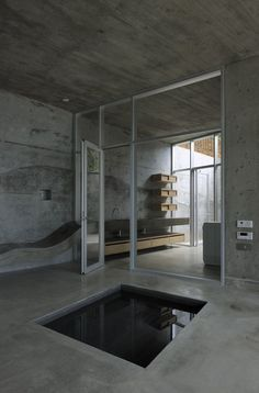 teeny tiny pool in my house. 'A' House in Kisami, Kisami, 2011 by Florian Busch Architects Bathroom Interior, Modern Bathroom, Bathroom Grey, Design Bathroom, Kitchen Design, Interior Architecture, Interior And Exterior, Installation Architecture, Building Architecture