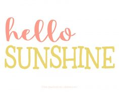 FREE Hello Sunshine summer printable. Perfect for your porch summer decor too!