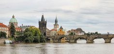 Prague is the capital of the Czech Republic and one of the cities that make up the famous traveler triangle: Prague, Vienna and Budapest Places In Europe, Places To See, Danube River Cruise, Prague Travel, Big Ben, Barcelona Cathedral, Beautiful Places, Around The Worlds
