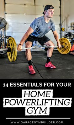 It is now possible to source heavy duty #powerlifting gear for the home user. Here are the essential fourteen items that you need to get your home powerlifting #gym functioning. #GarageGym #GarageGymInspiration #HomeGymInspiration #FitnessTips #FitnessGuide #HomeGymEquipment #FitnessGear #fitness #GarageGymSets #FatLoss #HealthyLifestyle #Health #BestWorkout #CrossFit #Weightlifting #Health #HealthyLiving #fit #swole