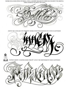 Gangster Tattoo Flash Sheet Page 3 Tattoo Name Fonts, Tattoo Lettering Styles, Chicano Lettering, Graffiti Lettering, Script Lettering, Graffiti Writing, Gangster Tattoos, Christ Tattoo, Tattoo Flash Sheet