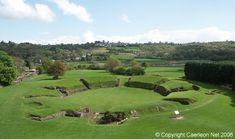 Amphitheaters in Caerleon im Wales Reiseführer http://www.abenteurer.net/3359-wales-reisefuehrer/