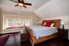 Spacious master suite on second floor offers sitting area under bay windows. #HomesEastSacramento