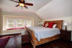 Spacious master suite on second floor offers sitting area under bay windows. #HomesEastSacramento