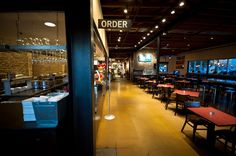 Liberty Market, downtown Gilbert, Arizona - good food and coffee; great place to be with friends.  This is the place that also has that unisex lavatory/restroom.