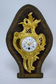 ANTIQUE FRENCH MANTEL CLOCK LA CASTEL,, Veneer, w/2 key