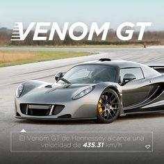 El Venom GT de Hennessey alcanza una velocidad de 436.31 km/h. El modelo 2016 pretende alcanzar los 450 km/ h ¿Lo sabías?  #PLAYERSFact #PLAYERSoflife #Fact #datocurioso