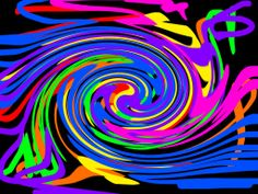 swirly rainbow wall paper