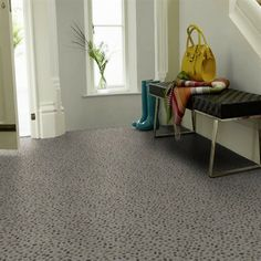 """Karndean also offer some exciting """"special effect"""" luxury vinyl tile like the Galician range here which mimics pebble mosic tiles."""