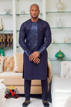The Anuba Man collection by Anuba Couture Nigerian Men Fashion, Mens Fashion, African Shirts, African Clothes, African Print Fashion, Africa Fashion, Fashion Prints, African Design, African Attire