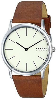 "Skagen Men's SKW6083 ""Theodor"" Stainless Steel Watch with Brown Leather Band, http://www.amazon.com/dp/B00GN3LIWC/ref=cm_sw_r_pi_awdm_YAWnwb1MA0PW5"