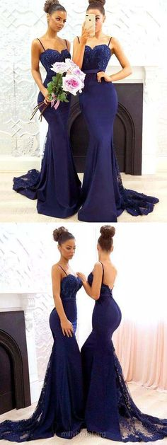 Lace Prom Dresses,Long Prom Dresses For Teens,Trumpet/Mermaid Prom Dresses Sweetheart, Tulle Silk-like Satin Bridesmaid Dresses Appliques, Modest Formal Evening Dresses For Women