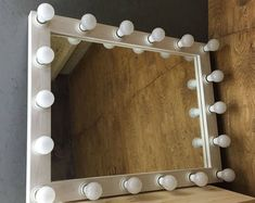 Vanity mirror with lights Hollywood vanity mirror Makeup mirror Mirror with lights Mirror with lamps Mirror for makeup Lighted mirror Hollywood Mirror With Lights, Hollywood Vanity Mirror, Mirrors For Makeup, Makeup Mirror With Lights, Large Light Up Letters, Teak, Teen Room Decor, Bedroom Decor, Bedroom Ideas