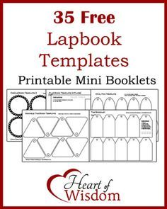 35 Free Lapbook Templates in one PDF Download Printable Freebie