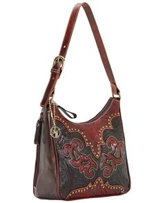 American West Annie's Secret Crimson Concealed Carry Leather Shoulder Bag  | western purse women's accessories, fine leather goods, fine leather accessories, handbag, purse, #concealedcarry #PackingHeat self-defense personal security Women's Second Amendment, Pro-Gun Rights, 2nd Amendment American freedom right to bear arms #Winter2015