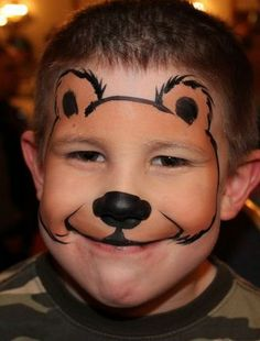 Bear Face Paint Technique