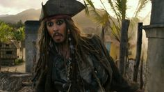 """""""PIRATES OF THE CARIBBEAN: DEAD MEN TELL NO TALES""""..The villainous Captain Salazar (Javier Bardem) pursues Jack Sparrow (Johnny Depp) as he searches for the trident used by Poseidon..Pictured: Captain Jack Sparrow (Johnny Depp)."""