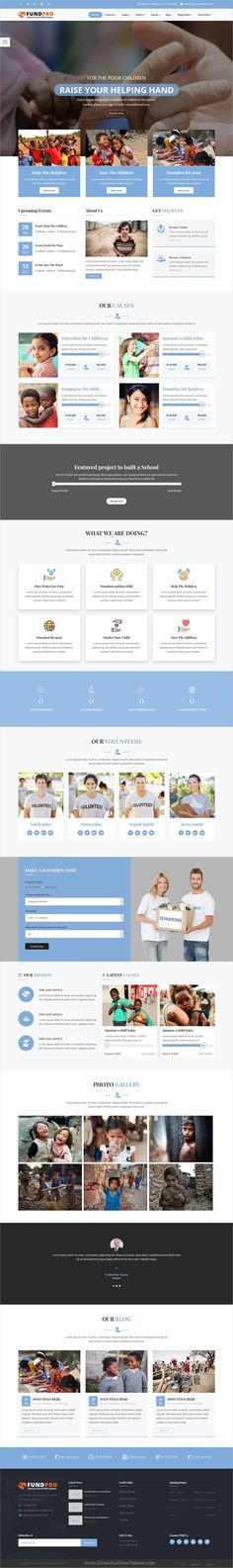 Fundraising is wonderful responsive Bootstrap HTML template for - ngo templates