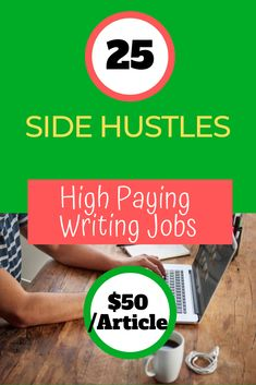 Get 25 side hustle online writing jobs that pay up to $50/article to make an extra cash at home. If you are a writer, you can make a decent amount of money doing these real online writing jobs.  #sidehustleideas #sidehustlepassiveincome #sidehustleathome #sidehustleextracash #sidehustlewoman #sidehustleformoms #sidehustletips #sidehustlebusiness #sidehustleonline #sidehustleinspiration #sidehustle #sidehustles #writingjob #writing #freelancewriting #makemoneyonline #workfromhome #money #cash