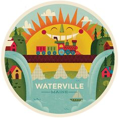 Waterville, Maine: Mike Dornseif - The Everywhere Project    (via Graphic ExchanGE)