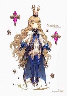 이미지 보기 : 네이버 카페 Female Character Design, Character Design Inspiration, Character Concept, Character Art, Girls Characters, Fantasy Characters, Anime Characters, Anime Fantasy, Fantasy Art
