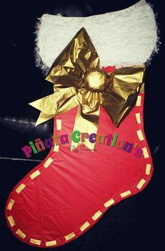 By Piñata Creation's By Susana Dunlin TX Christmas Stockings, Holiday Decor, Homemade Pinata, Manualidades, Needlepoint Christmas Stockings, Christmas Leggings, Stockings
