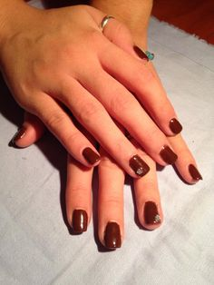 my chocolate nails!