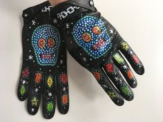 Hand painted, vintage leather gloves. Says size 7 but is slightly smaller than new size 7s. Soft suede lining, elastic wrist detail at the back. Good vintage condition- marks on the inside of gloves say Christian Dior for Marshal Fields Chicago. Can also be framed as art. Size 7. Symbolic Representation, Soft Suede, Leather Gloves, Vintage Leather, Christian Dior, Fields, Chicago, Hand Painted, Detail