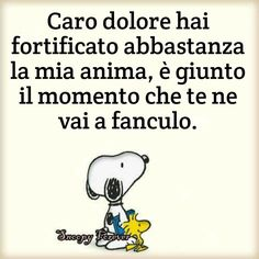 ...da mo'.... Italian Memes, Italian Quotes, Feelings Words, In My Feelings, Jokes Quotes, Funny Quotes, Gruseliger Clown, Snoopy And Woodstock, Smile Quotes