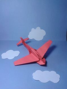 Origami plane Jimbo Folded by Majomajo Tutorial here http://www.youtube.com/watch?v=ZbLNy6jrq1I