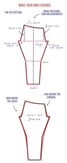The total beginner's guide to making DIY leggings. A totally easy tutorial showing you how to make a DIY legging pattern using your measurements. Snazzy   Randomly Happy
