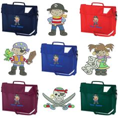 Personalised Embroidered Book Bag and Strap by Thegiftworkshop