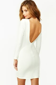 Femme Dress - White...would love to pair this with a leather jacket.