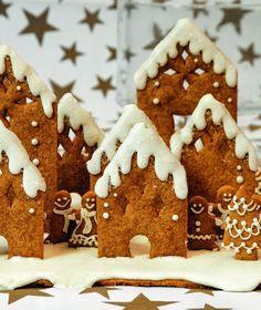 Χριστουγεννιάτικο χωριό Christmas Cooking, Gingerbread Cookies, Tiramisu, Holiday Recipes, Cookie Recipes, Deserts, Keto, Sugar, Ethnic Recipes