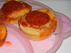 Cupcake Pizzas - Think I will try this on the girls next week