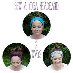 Sew a yoga headband (3 ways!) from The Homesteady