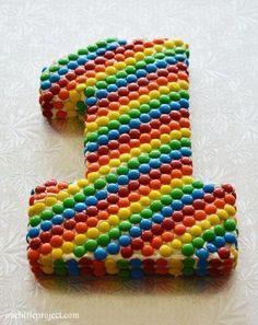 Торт в виде цифры 1