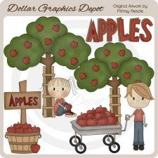 Picking Apples - Clip Art