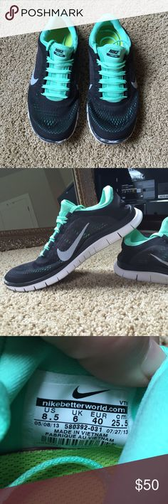 Nike Free 3.0 Lightly used. Soles are still in great condition. Minor scuffs on the tip of the toes, other than that they are clean and look great! Nike Shoes Sneakers