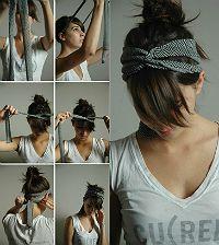 Assuntos de Garotas: Lenços na cabeça! Como usar?