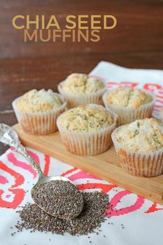 Chia Seed Muffin Recipe -- This is a recipe for simple, no-frills chia seed muffins. Dense, moist, and packed with chia seed nutrition!