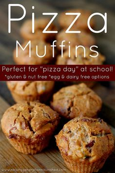 "Pizza Muffins :: Perfect For ""Pizza Day"" At School!"