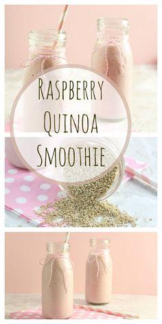 Raspberry Quinoa Smoothie