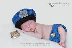 Police Hat and Diaper Cover. $32.00, via Etsy.