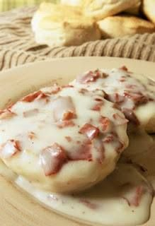 Creamed chipped beef (sos)  haven't had this in YEARS (must've been a 70's thing..) We called it SOS too!