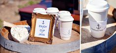 {a cup of joe} Nautical Wedding Theme, Wedding Favors, Weddings, Thoughts, Coffee, Pictures, Style, Wedding Keepsakes, Kaffee