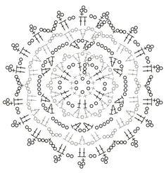 Вязание крючком снежинки. Схема