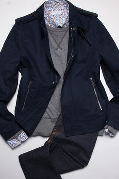 Style Tips | Style at Every Age: Transitional Outerwear - 30's - Kent and Curwen Moto Jacket: $695 | GOTSTYLE.CA